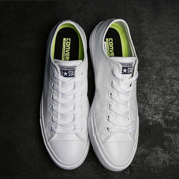 d2f1547f2c6b Converse Shoes - Converse Chuck II White Low Top w  Nike Lunarlon